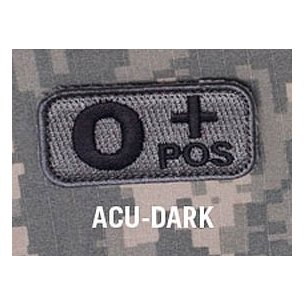 Mil-Spec Monkey Blood Type velcro patch - ACU Dark