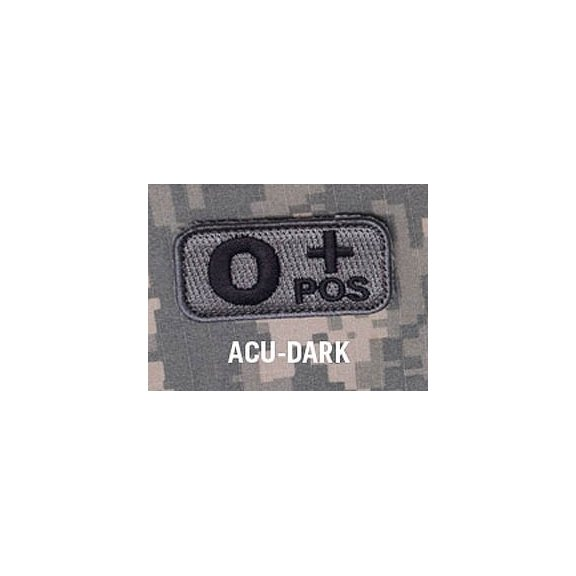 Blood Type velcro patch - ACU Dark
