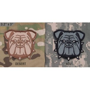 Mil-Spec Monkey Bulldog Head Large velcro patch
