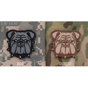 Mil-Spec Monkey Bulldog Head Small velcro patch