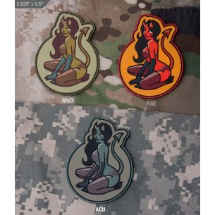 Mil-Spec Monkey Devil Girl PVC velcro patch