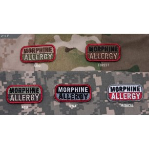 Morphine Allergy velcro patch
