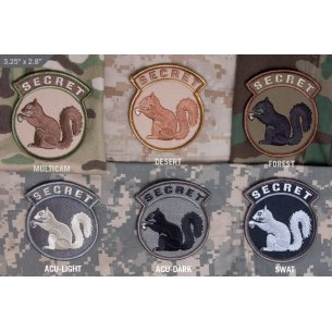 Secret Squirrel velcro patch
