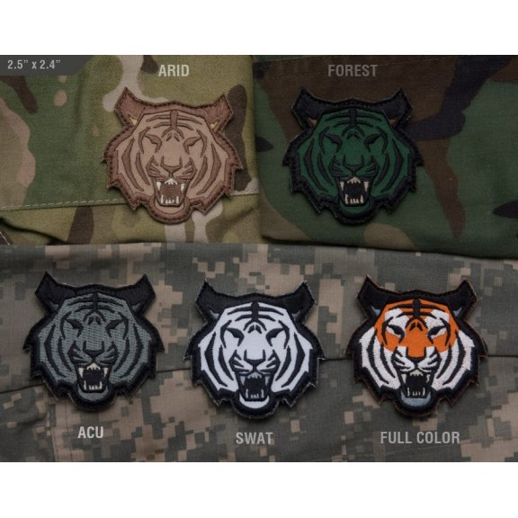 Tiger Head velcro patch