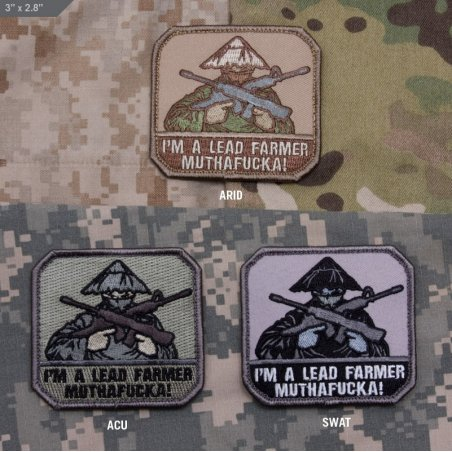 Lead Farmer velcro patch