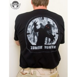 Zombie Hunter T-shirt - Cotton - Black