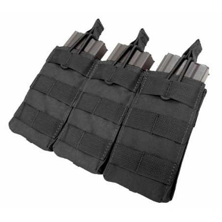 Open Top M4/M16 Triple Mag Pouch (MA27-002) - Black