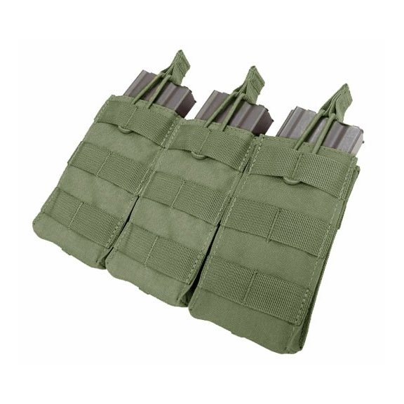 Open Top M4/M16 Triple Mag Pouch (MA27-001) - Olive Green