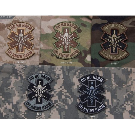 Do No Harm Spartan velcro patch