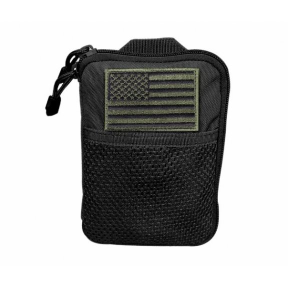 Pocket Pouch with US Flag Patch (MA16-002) - Black