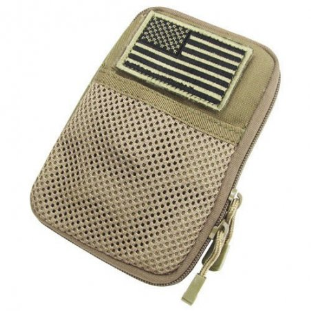 Pocket Pouch with US Flag Patch (MA16-003) - Coyote / Tan