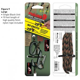 Nite Ize® Figure 9 Large (F9L-03-01CAMO) - Aluminum - Black - with Camo Rope
