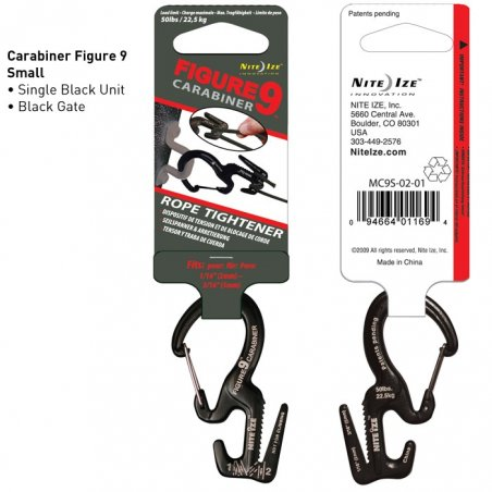 Figure 9 Carabiner Small (MC9S-02-01) - Aluminum - Black - Black Gate