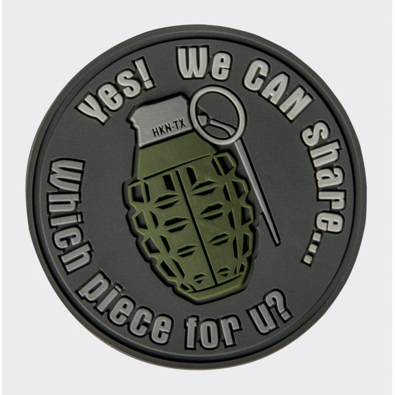 WE CAN SHARE Grenade Velcro patch - PVC - Grey