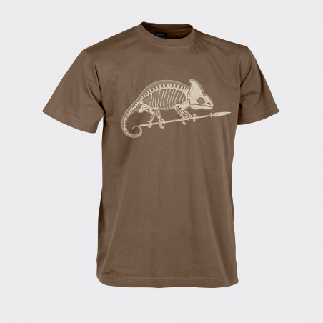 CHAMELEON SKELETON Classic Army T-shirt - Cotton - Brown