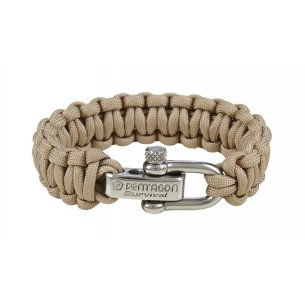 Pentagon Tactical Survival Bracelet - Beige / Khaki
