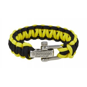Pentagon Tactical Survival Bracelet - Yellow-Black