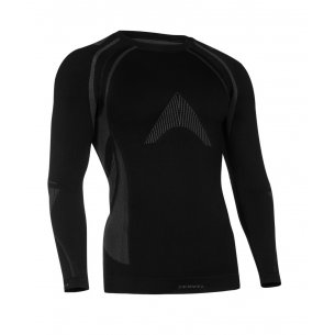OPTILINE Men's long sleeve shirt (OPT 1002) - Black / Grey