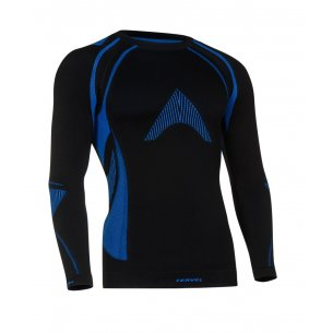 OPTILINE Men's long sleeve shirt (OPT 1002) - Black / Blue