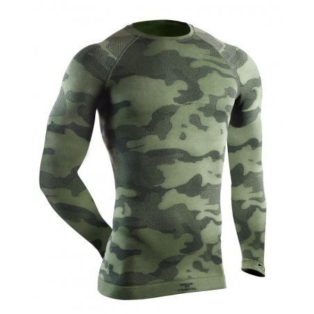 OPTILINE TACTICAL Men's long sleeve shirt (OPT 1003) - Military / Grey