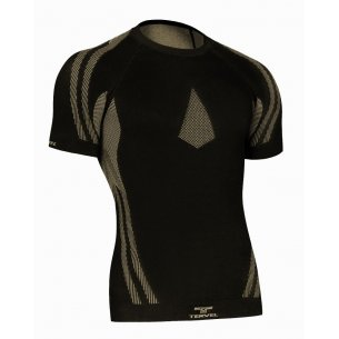 OPTILINE Men's short sleeve shirt (OPT L1102) - Black / Gold