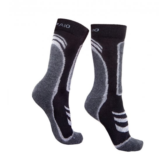 Trekking socks THERMOLITE - Black / Dark Grey