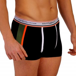 Spaio MEN's Boxers Shorts BMS 01 - Black / Olive Green