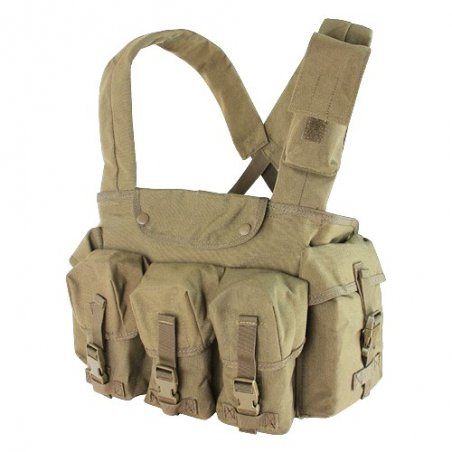 7 Pocket Chest Rig (CR-003) - Coyote / Tan