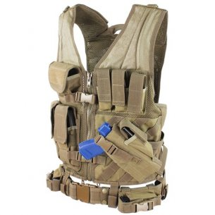 Condor® Crossdraw Vest (CV-003) - Coyote / Tan