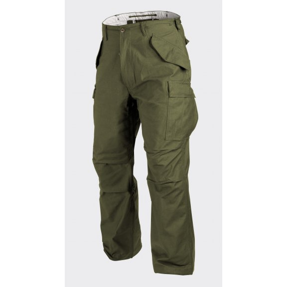 US ARMY MILITARY M65 Trousers / Pants - Nyco Sateen - Olive Green