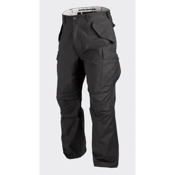 US ARMY MILITARY M65 Trousers / Pants - Nyco Sateen - Black