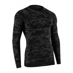 Tervel OPTILINE DIGITAL Men's long sleeve shirt (OPT 1005) - Black / Grey