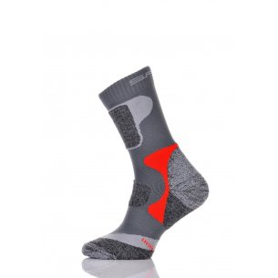 Spaio Trekking socks SKINLIFE - Grey/Red