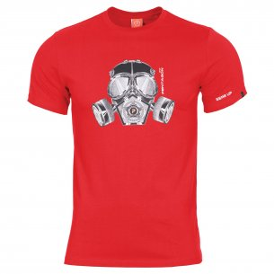 AGERON T-shirts - Gas Mask - Lava Red
