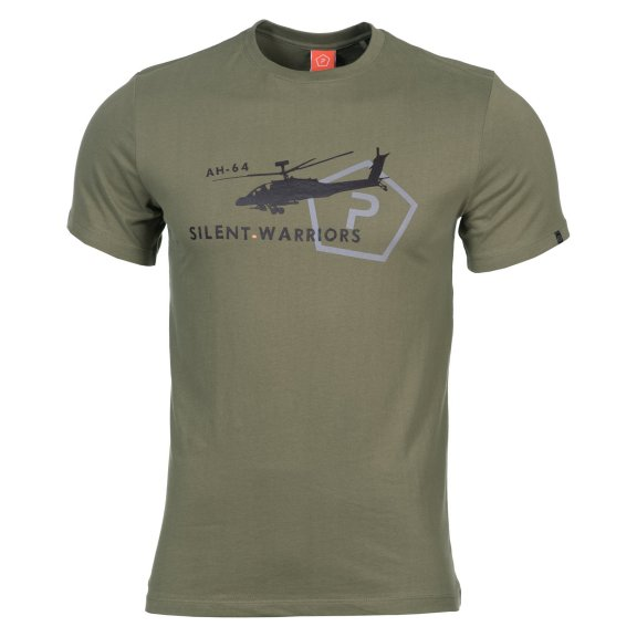 AGERON T-shirts - Helicopter - Olive Green