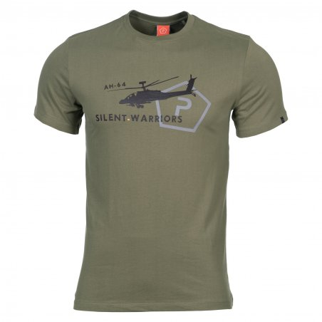 Pentagon T-shirt AGERON - Helicopter - Olive Green