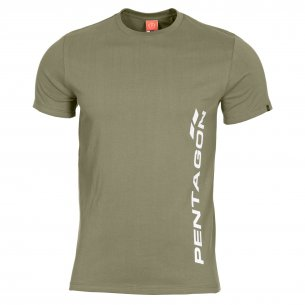 AGERON T-shirts - VERTICAL - Olive Geen