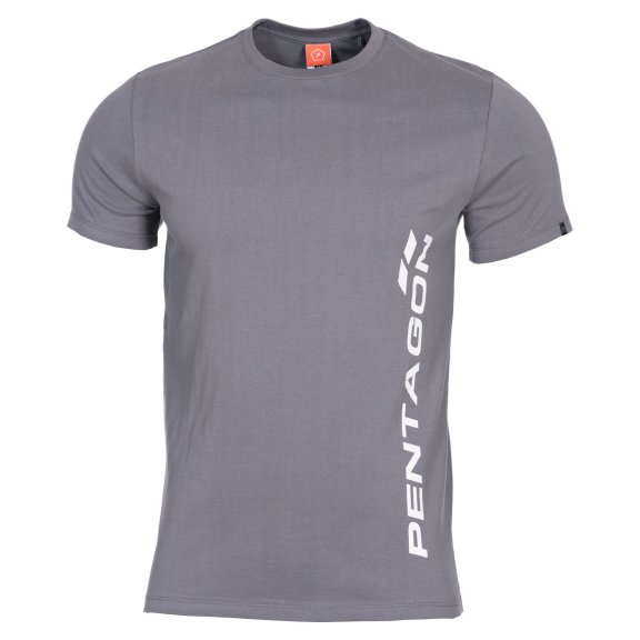 AGERON T-shirts - VERTICAL - Wolf Grey