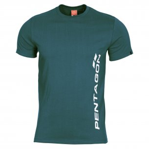 T-shirt AGERON - VERTICAL - Petrol Blue