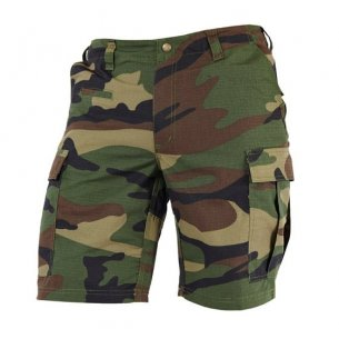 BDU (Battle Dress Uniform) Shorts - Ripstop - Woodland