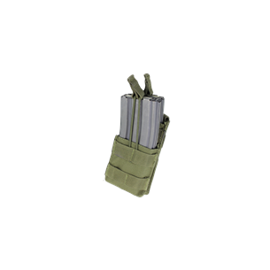 Single Stacker M4 Mag Pouch (MA42-001) - Olive Green