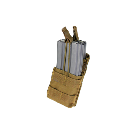Condor® Single Stacker M4 Mag Pouch (MA42-003) - Coyote / Tan