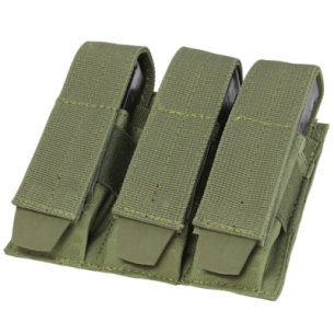 Ładownica molle Triple Pistol Mag Pouch (MA52-001) - Olive Green
