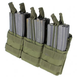 Triple Stacker M4 Mag Pouch (MA44-001) - Olive Green