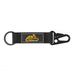 Snap Hook KEYCHAIN with Logo - Nylon - Black