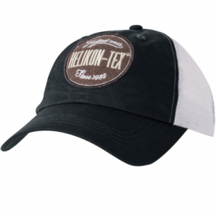 Trucker Logo Cap - Cotton Twill - Black