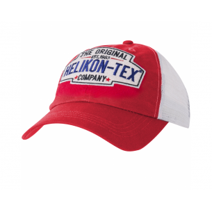 Trucker Logo Cap - Cotton Twill - Red