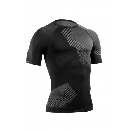 OPTILINE Men's short sleeve shirt (OPT 1109) - Black / Grey
