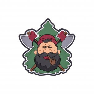 """Beardman BUSHCRAFT"" Patch - PVC - Olivgrün"