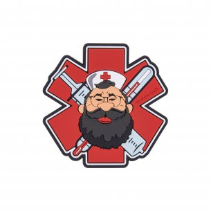 """Beardman MEDIC "" Patch - PVC - Red"